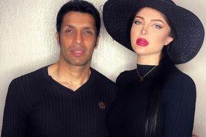 عاشقانه سپهر حیدری و همسر مدلش + عکس